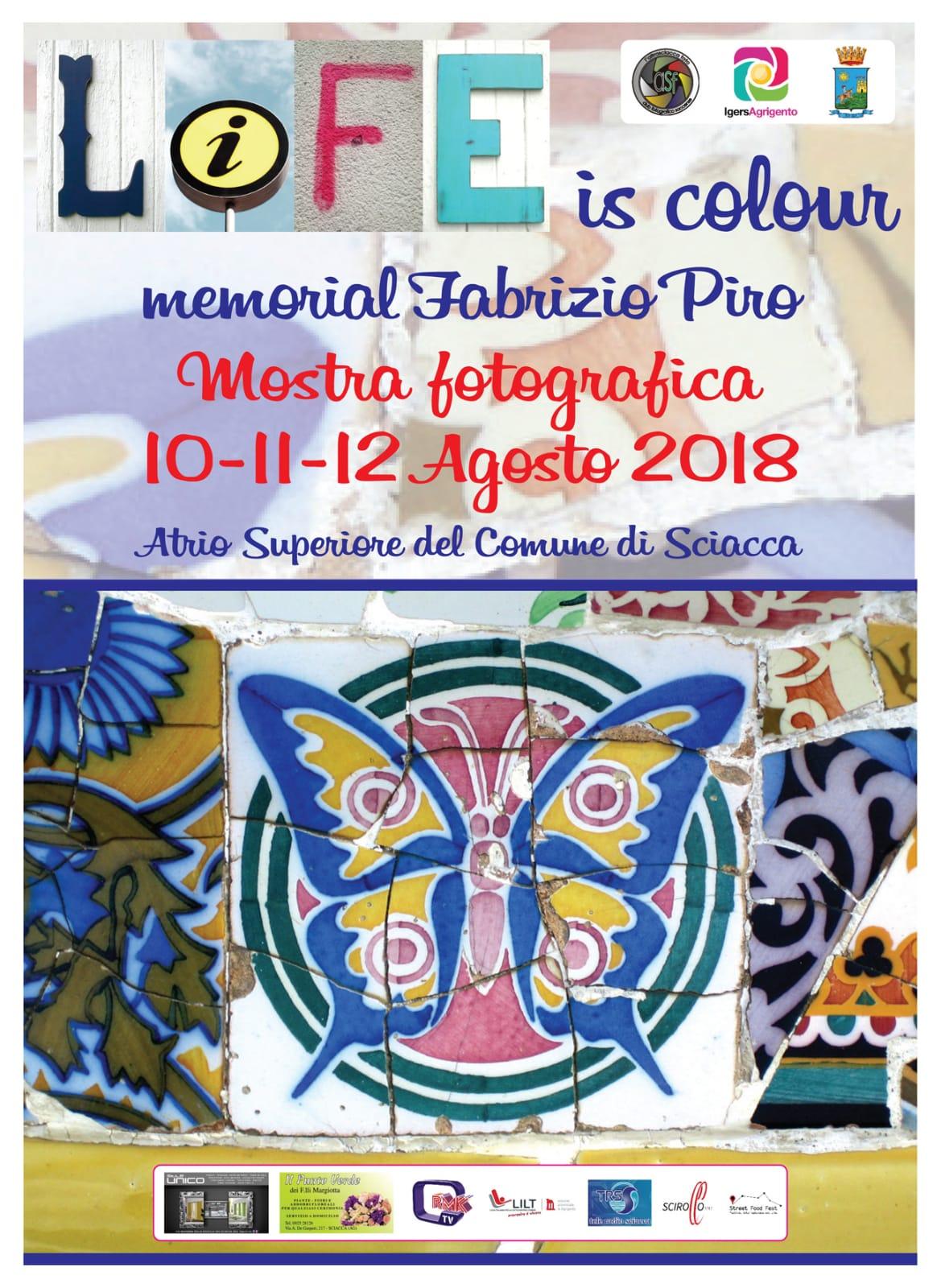 """""""LIFE is colour"""" dal 10 al 12 Agosto a Sciacca"""