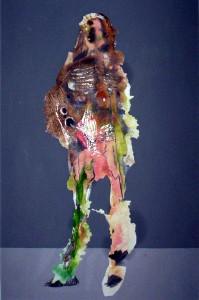 metamorfosi 02 tecn mista su cartoncino cm 70 x 50 2004
