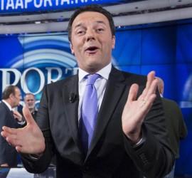Matteo Renzi ospite a ''Porta a Porta''